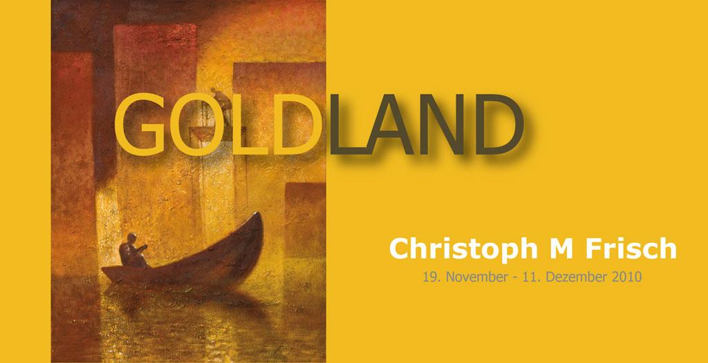 Einladungskarte Goldland
